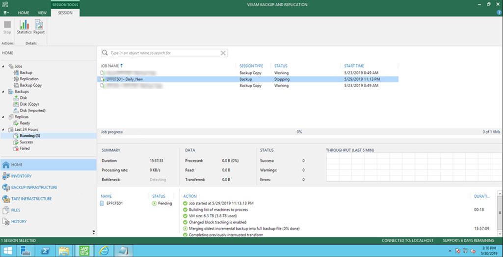 How to Stop A Veeam Backup Job When It Is Stuck at Stopping
